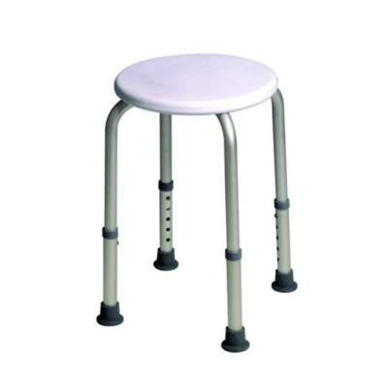 Drive Devilbiss Round Shower Stool white