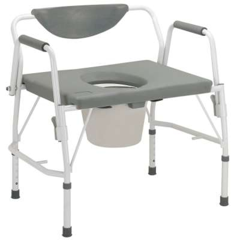 Drive Devilbiss Deluxe Bariatric Drop Arm Commode