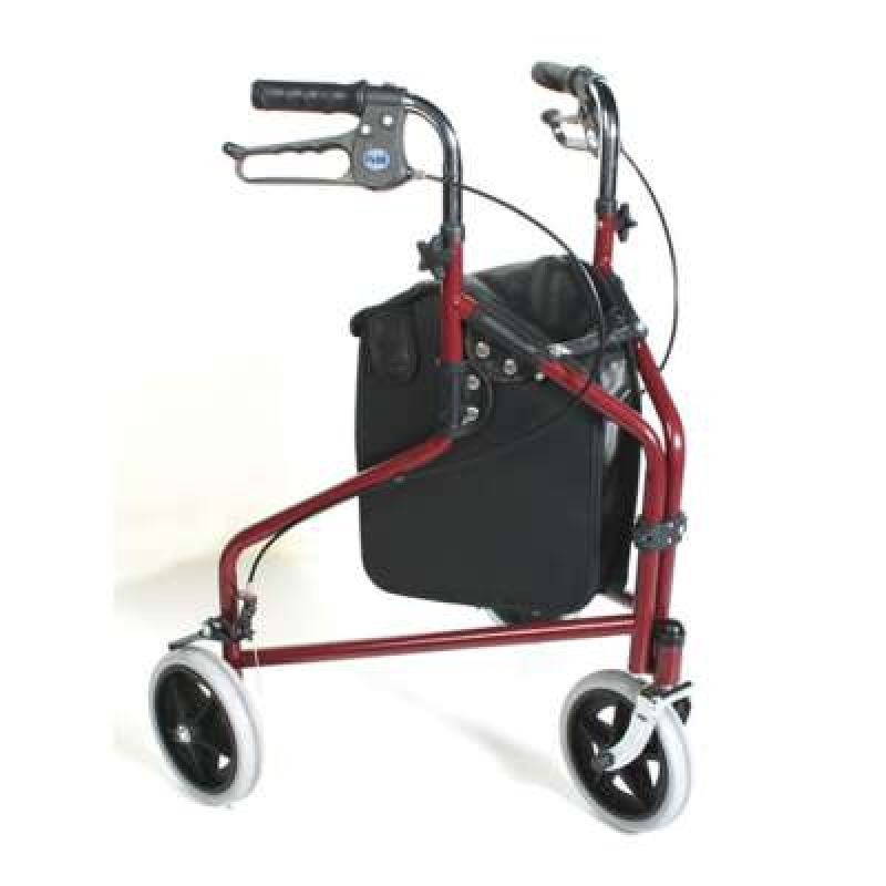Roma Medical Steel Tri Wheeled Walker with Bag