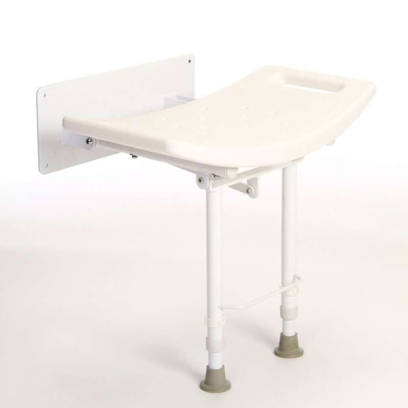 Drive Devilbiss Wall Mounted Shower Stool with legs