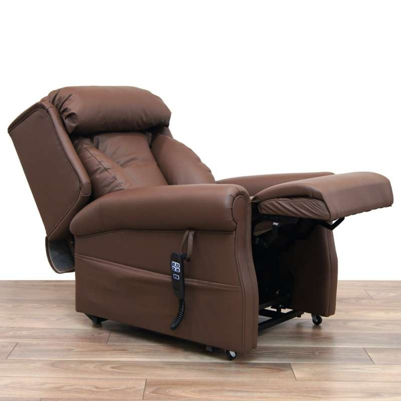Rise & Recline Leather Lateral Support Riser Recliner