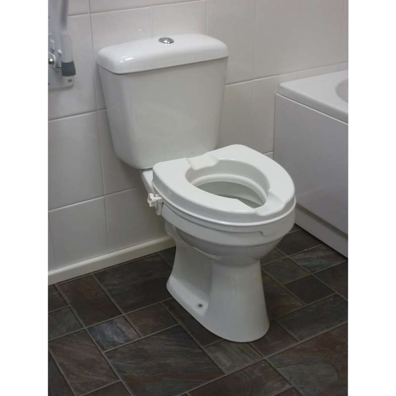 Drive Devilbiss Raised Toilet Seat With out Lid