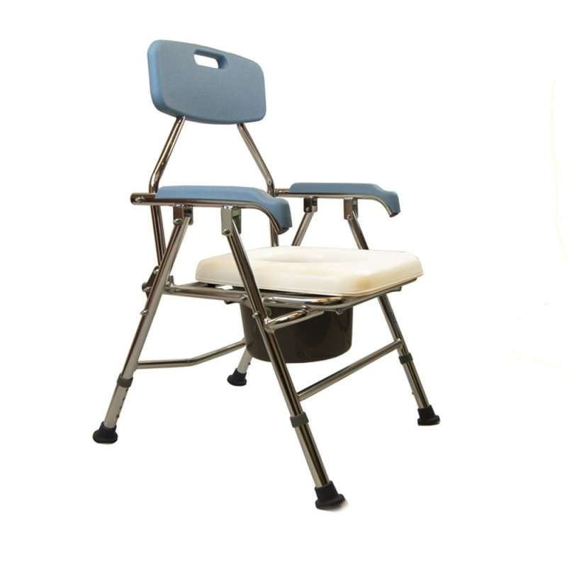 Z-Tec Folding Commode with Soft Seat